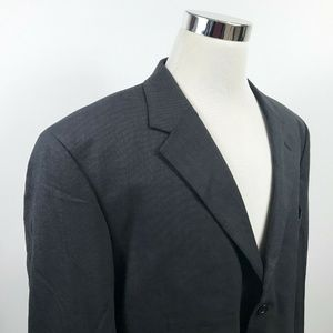Jos A Bank Mens 50L Sport Coat Charcoal Black Wool